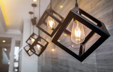 Lights Bulbs in Hanging Chandelier Pendant Light Fixtures